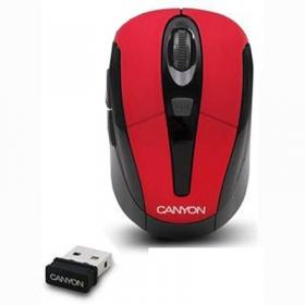 CANYON CNR-MSOW06R wireless optikai piros-fekete egér