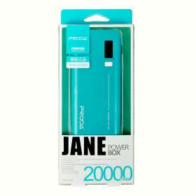 Proda JaneDual Indicator 20000 mAh türkízkék PowerBank (PRODA_157)