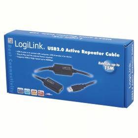 LogiLink USB 2.0 hosszabbító kábel (UA0145)