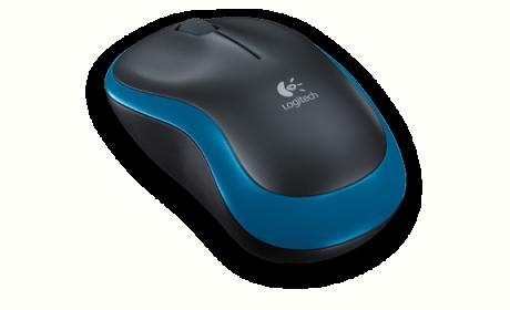 Logitech M185 wireless optikai fekete-kék egér (910-002239)