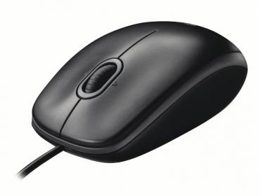 LOGITECH B100 USB optikai fekete egér (910-003357)