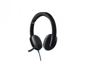 Logitech H540 USB fekete mikrofonos fejhallgató (981-000480)