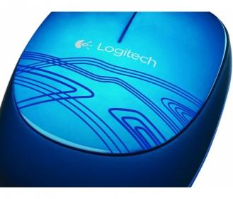 Logitech M105 USB optikai kék mintás egér (910-003105)