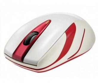 Logitech M525 wireless lézer gyöngyház fehér-piros egér (910-002685)