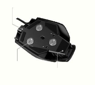 Gigabyte Aivia KRYPTON USB lézer fekete gamer egér (LASER GAMING MOUSE/BLACK)