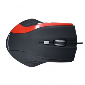 MODECOM MC-M5 USB optikai fekete-piros egér (M-MC-00M5-150)