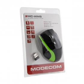 MODECOM MC-WM5 wireless optikai fekete-zöld egér (M-MC-0WM5-180)