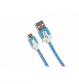 Media-Tech Micro USB kábel Kék  (MT5102B)
