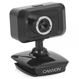 Canyon Enhanced USB mikrofonos fekete webkamera (CNE-CWC19