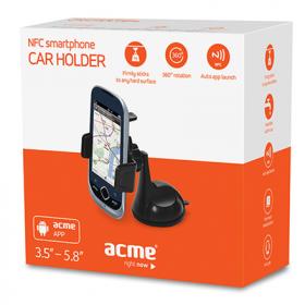 Acme MH05 NFC fekete autós okostelefon tartó