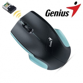 Genius NS-6015 wireless BlueEye fekete jégkék egér (31030101103)