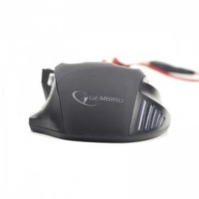 Gembird MUSG-02 USB optikai fekete-piros gamer egér