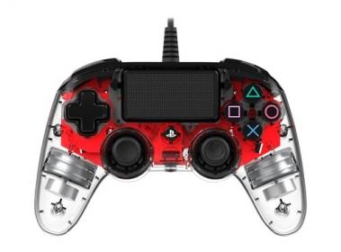 Playstation 4 Nacon vezetékes kontroller halványpiros