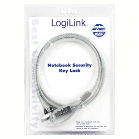 LogiLink Kombinációs zárral ellátott biztonsági notebook zár (NBS002)