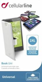 Cellularline Book Case ''XXL'' univerzális fehér telefontok (BOOKUNI2LW)