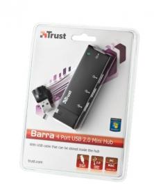 Trust Barra 4 portos USB 2.0 mini hub (15005)