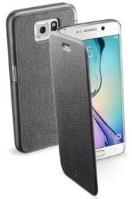 Cellularline Book G925 Samsung Galaxy S6 EDGE fekete telefontok (BOOKESSGALS6EK)