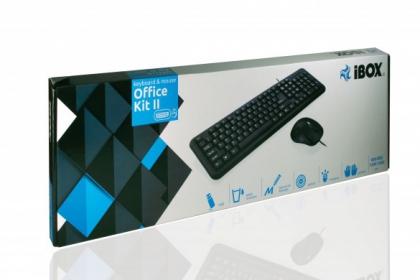 I-BOX Office Kit II USB angol billentyűzet+egér (IKMOC2005070U)