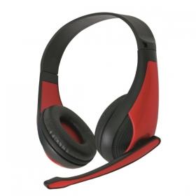OMEGA Freestyle Piros fejhallgató mikrofonnal (FH4008R)