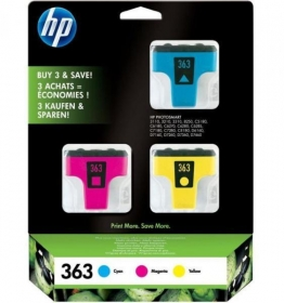 HP 363 ciánkék-magenta-sárga multipack tintapatron (CB333EE)