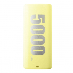 Proda E5000 Series Power Bank 5000 mAh, napsárga