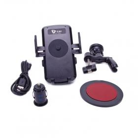 Zegapain Proda univerzális autós telefontartó, vezeték nélküli töltő, fekete