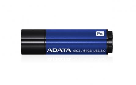 ADATA S102 PRO Pendrive 64GB Titanium kék (AS102P-64G-RBL)