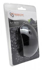 Sbox M-900B USB optikai fekete egér
