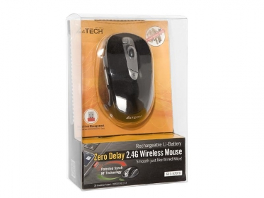 A4Tech G11-570FX wireless lézer fekete-ezüst egér (A4TMYS43978)