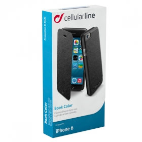 Cellularline Book Color iPhone 6 fekete telefontok (BOOKCOLORIPH647K)