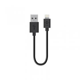Belkin F8J023BT06INBLK 15cm fekete lightning USB kábel