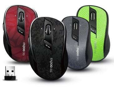 RAPOO 7100P-B wireless optikai szürke mintás egér (142056)