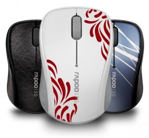RAPOO 3100P wireless optikai fehér mintás egér (142022)