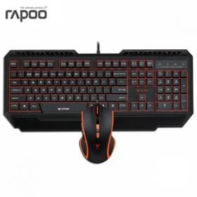 RAPOO V100 USB magyar billentyűzet + egér (155402)