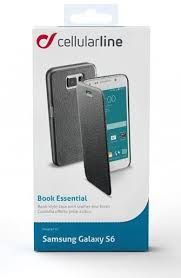 Cellularline Book G920 Samsung Galaxy S6 fekete telefontok (BOOKESSENGALS6K)