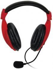 VAKOSS   MH536R piros-fekete mikrofonos fejhallgató