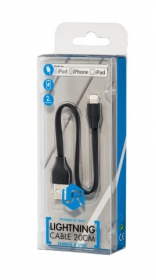 Trust LIGHTNING CHIP 20 cm fekete adatkábel (20131)