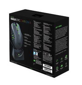 Razer Naga Epic Chroma wireless/USB lézer fekete gamer egér (RZ01-01230100-R3G1)