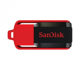 SANDISK Cruzer Switch 8GB USB2.0 Fekete-Piros Pendrive (114716)