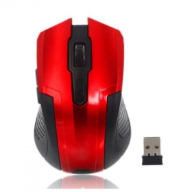 SILVERLINE GESLRF107R wireless optikai piros-fekete egér