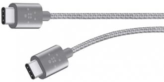 Belkin Premium Mixit Metallic USB C 2.0 szürke összekötő kábel (  F2CU041BT06-GRY)