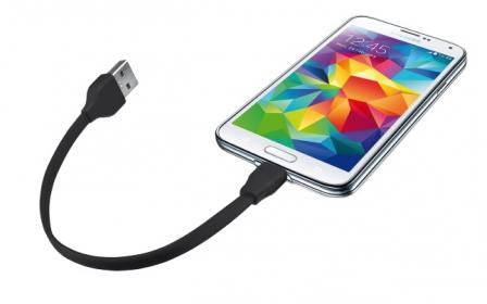 Trust 20139 fekete 20 cm micro USB adatkábel