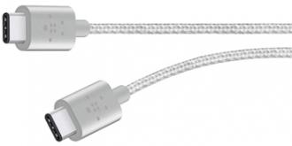 Belkin Premium Mixit Metallic USB C 2.0 ezüst összekötő kábel (F2CU041BT06-SLV)