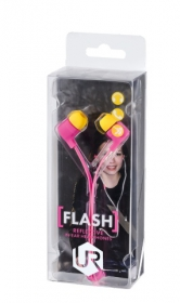 Trust Flash Reflecting In-ear mikrofonos pink headset (19934)