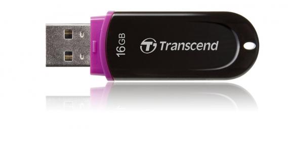 Transcend  JetFlash 16GB USB 2.0 Fekete Pendrive (TS16GJF300)