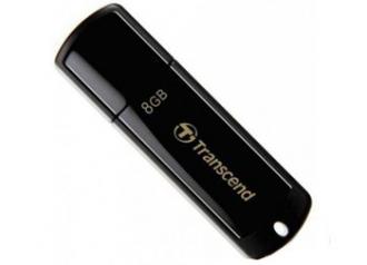Transcend JetFlash 350 8GB USB 2.0 Fekete Pendrive (TS8GJF350)