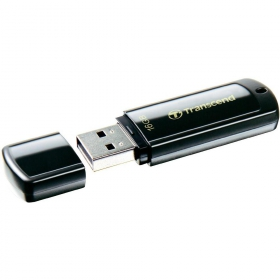 Transcend JetFlash 350 16GB USB2.0 Fekete Pendrive (TS16GJF350)