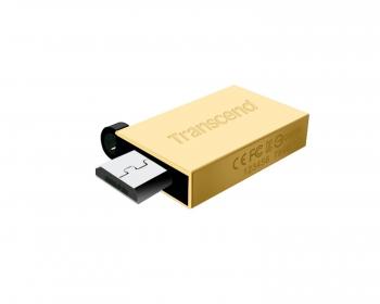 Transcend JetFlash 380 16GB OTG USB2.0 Arany Pendrive (TS16GJF380G)