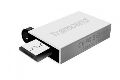 Transcend JetFlash 380 16GB OTG USB2.0 Ezüst Pendrive (TS16GJF380S)