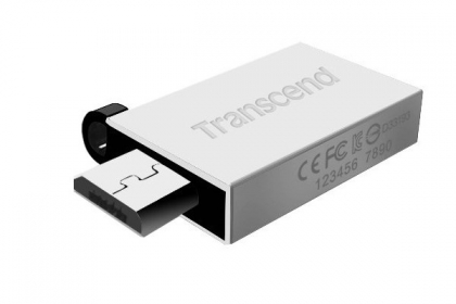 Transcend Pendrive JetFlash 380 32GB OTG USB2.0 Ezüst Pendrive (TS32GJF380S)